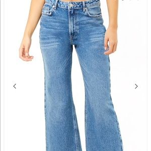 Forever 21 High Wasted Wise Crop Jean